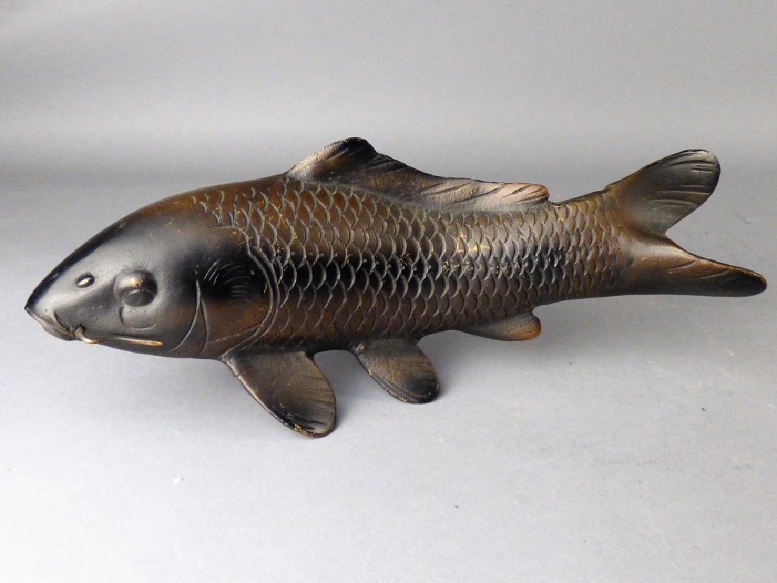 Japanese Bronze Figure of Koi or Carp