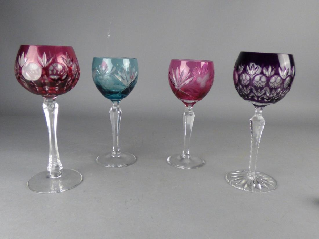Four Cut-to-Clear Crystal Goblets