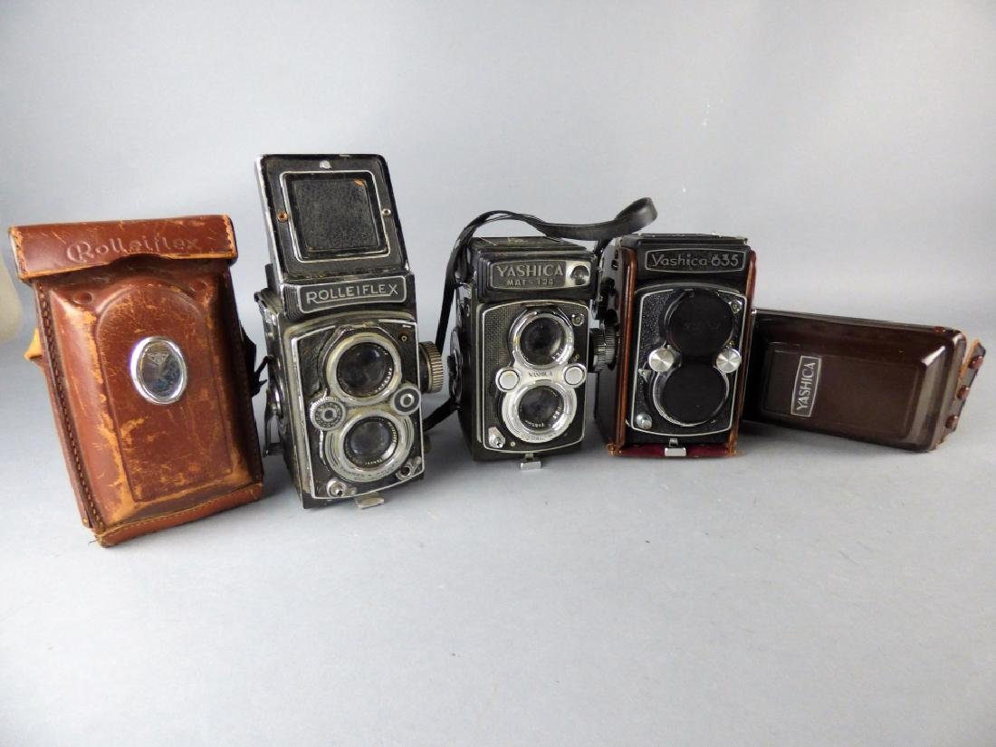 Three Vintage Twin Lens Reflex Cameras