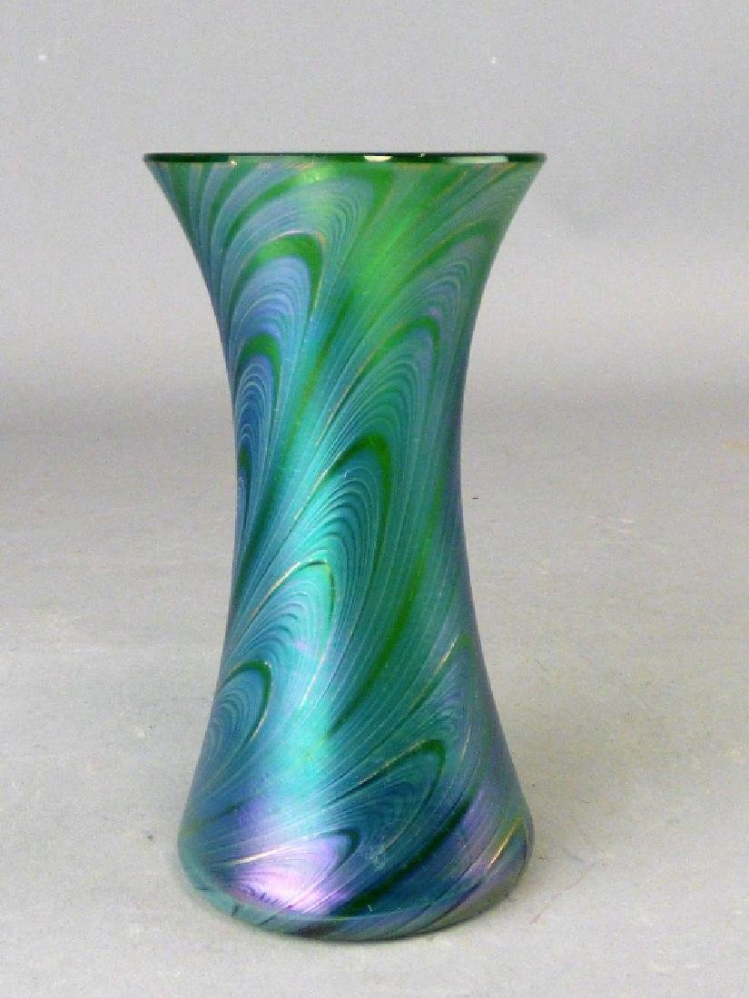 Iridized Bohemian Glass Vase