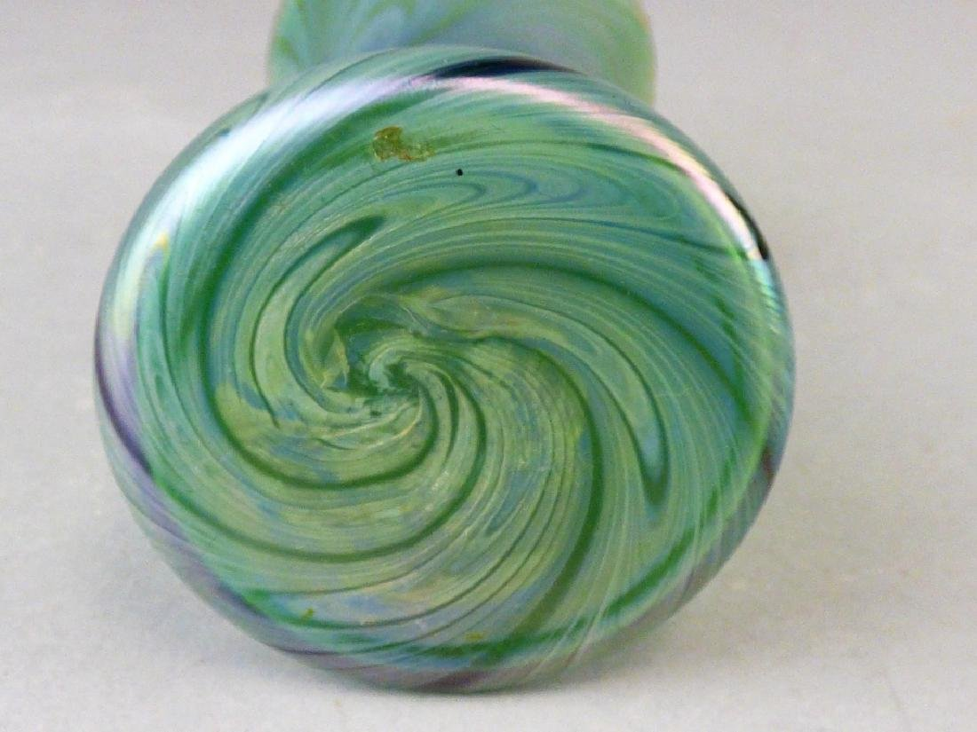 Iridized Bohemian Glass Vase - 4
