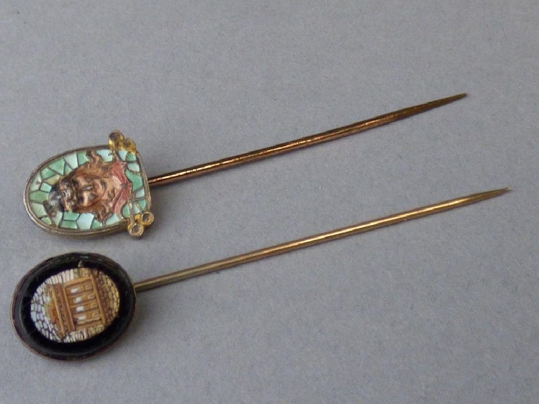 Finely Worked Micromosaic Stick Pin