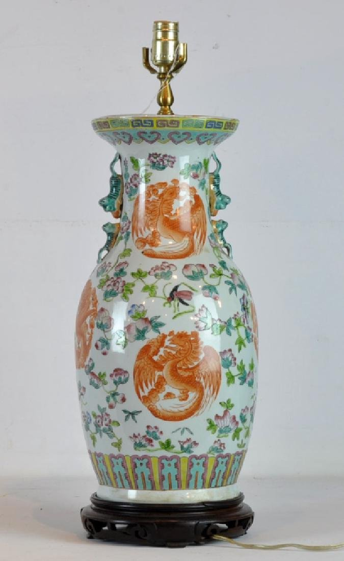 Pair of Antique Chinese Famille Rose Vases - 2