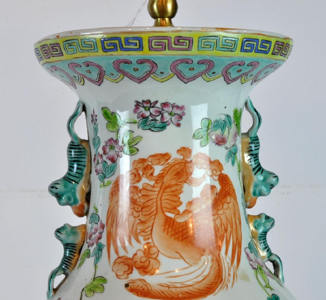 Pair of Antique Chinese Famille Rose Vases - 3
