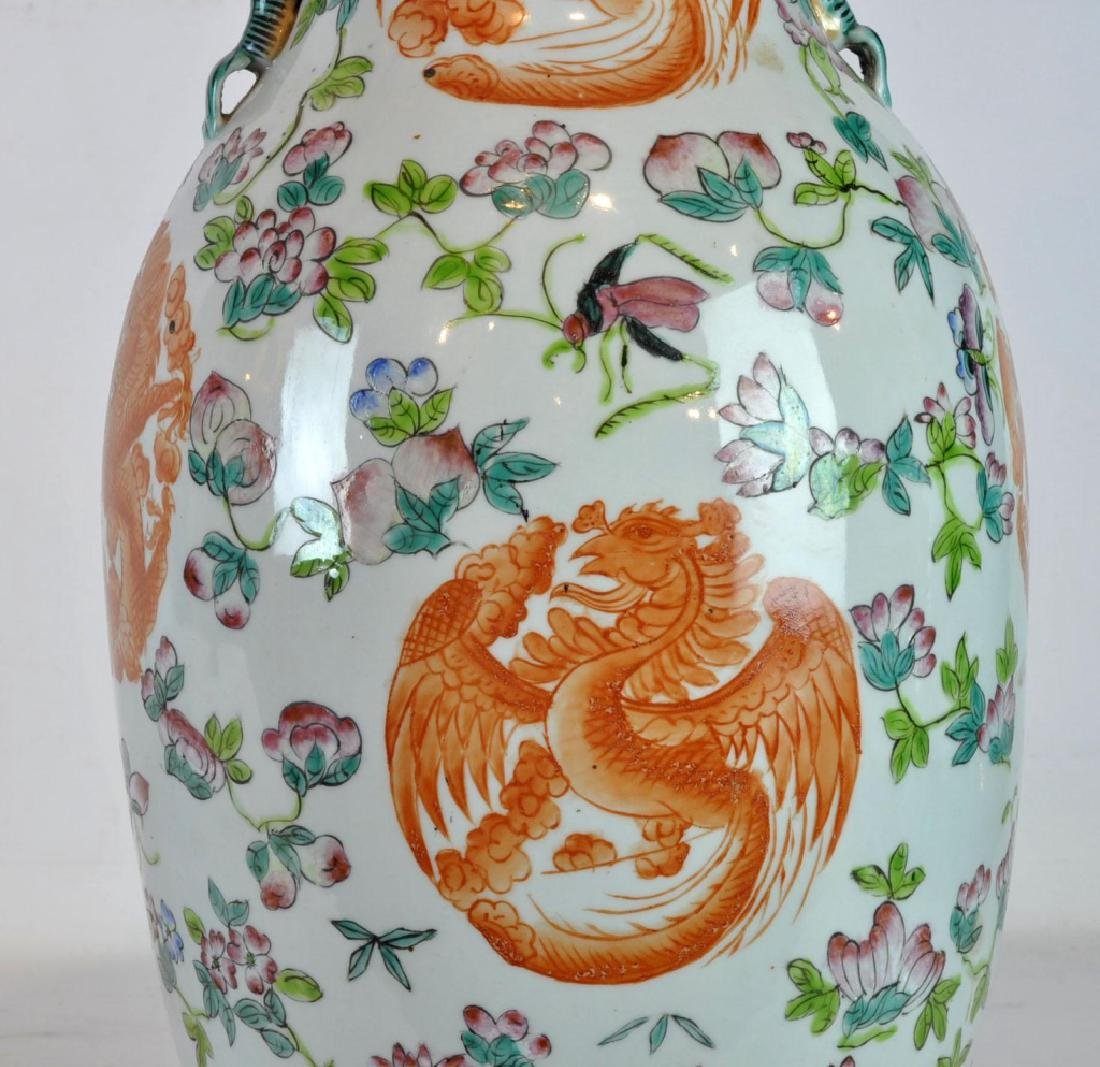 Pair of Antique Chinese Famille Rose Vases - 4