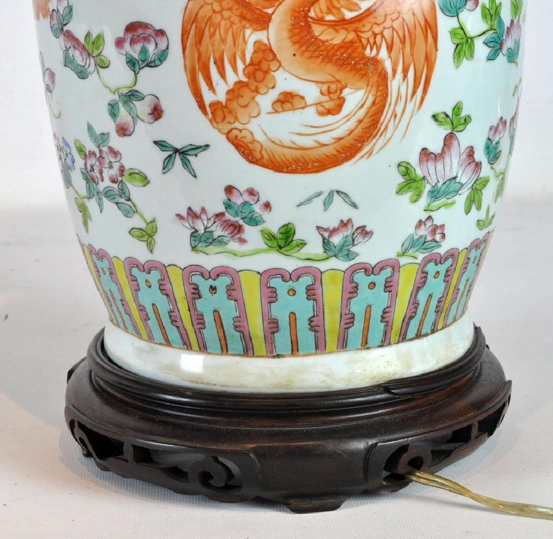 Pair of Antique Chinese Famille Rose Vases - 5
