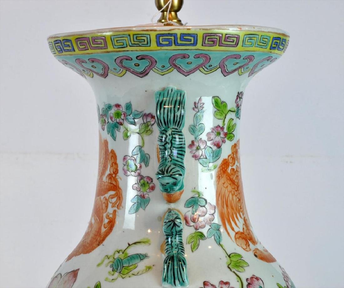 Pair of Antique Chinese Famille Rose Vases - 6