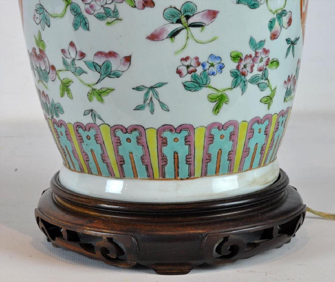 Pair of Antique Chinese Famille Rose Vases - 8