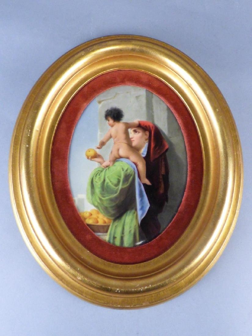 Antique Porcelain Plaque