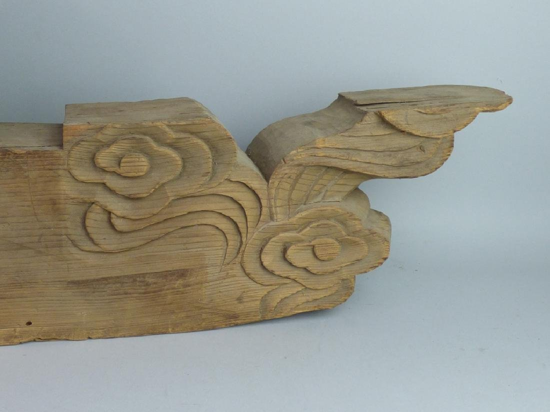Antique Japanese Carved Wood Architectural Element - 3