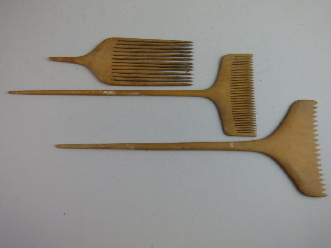 Group of Assorted Geisha's Wig Combs - 3