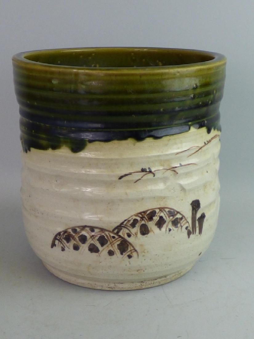 Japanese Oribe-Style Pottery Hibachi