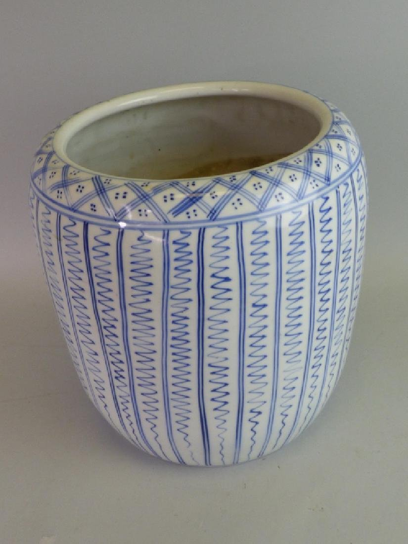 Japanese Blue & White Porcelain Hibachi - 2