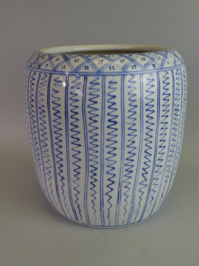 Japanese Blue & White Porcelain Hibachi - 3
