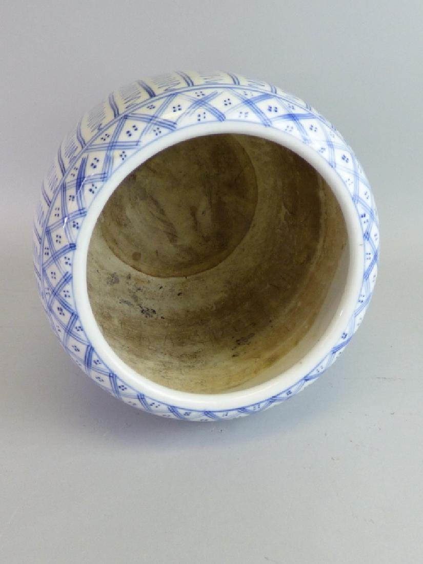 Japanese Blue & White Porcelain Hibachi - 4
