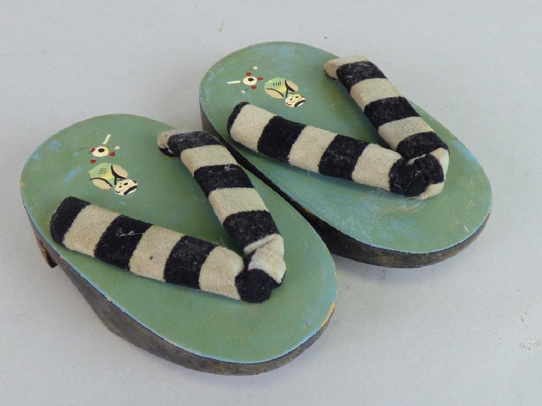 Pair of Child's Lacquer Geta Sandals