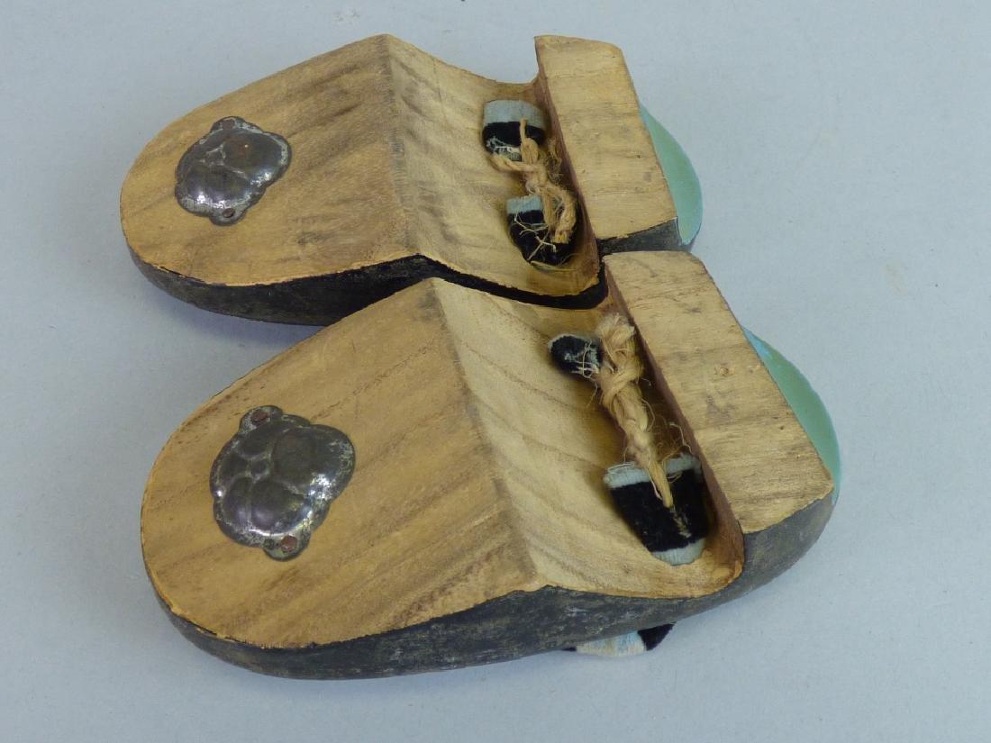 Pair of Child's Lacquer Geta Sandals - 4