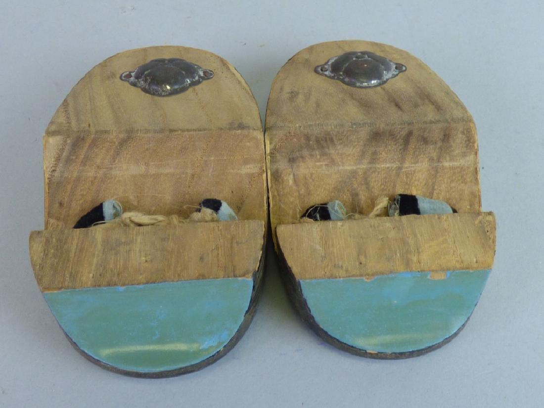 Pair of Child's Lacquer Geta Sandals - 5
