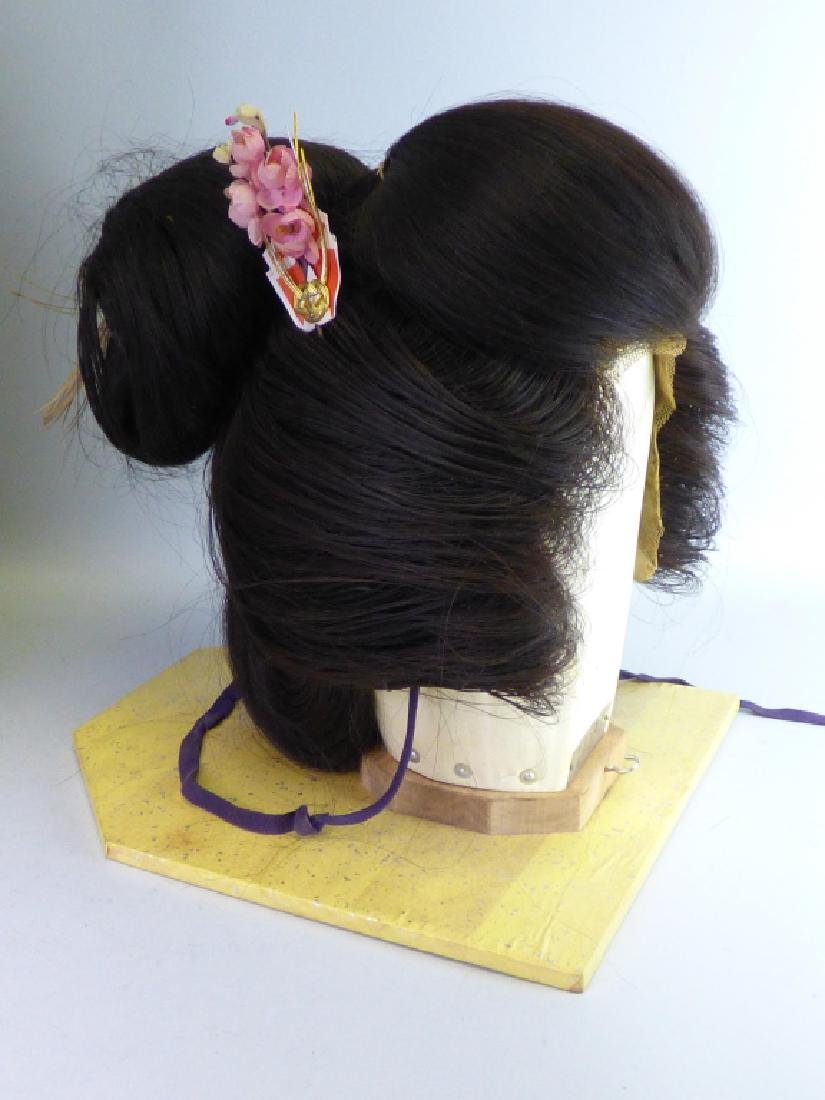 A Japanese Katsura Geisha's Wig In Fitted Case - 3