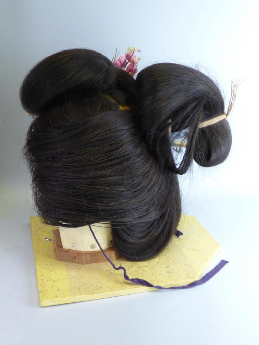 A Japanese Katsura Geisha's Wig In Fitted Case - 4