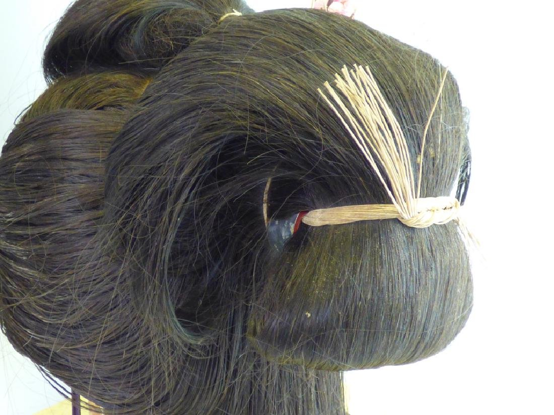 A Japanese Katsura Geisha's Wig In Fitted Case - 5