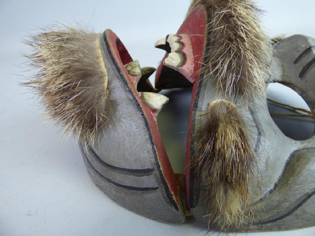 Antique Japanese Noh Mask - 4
