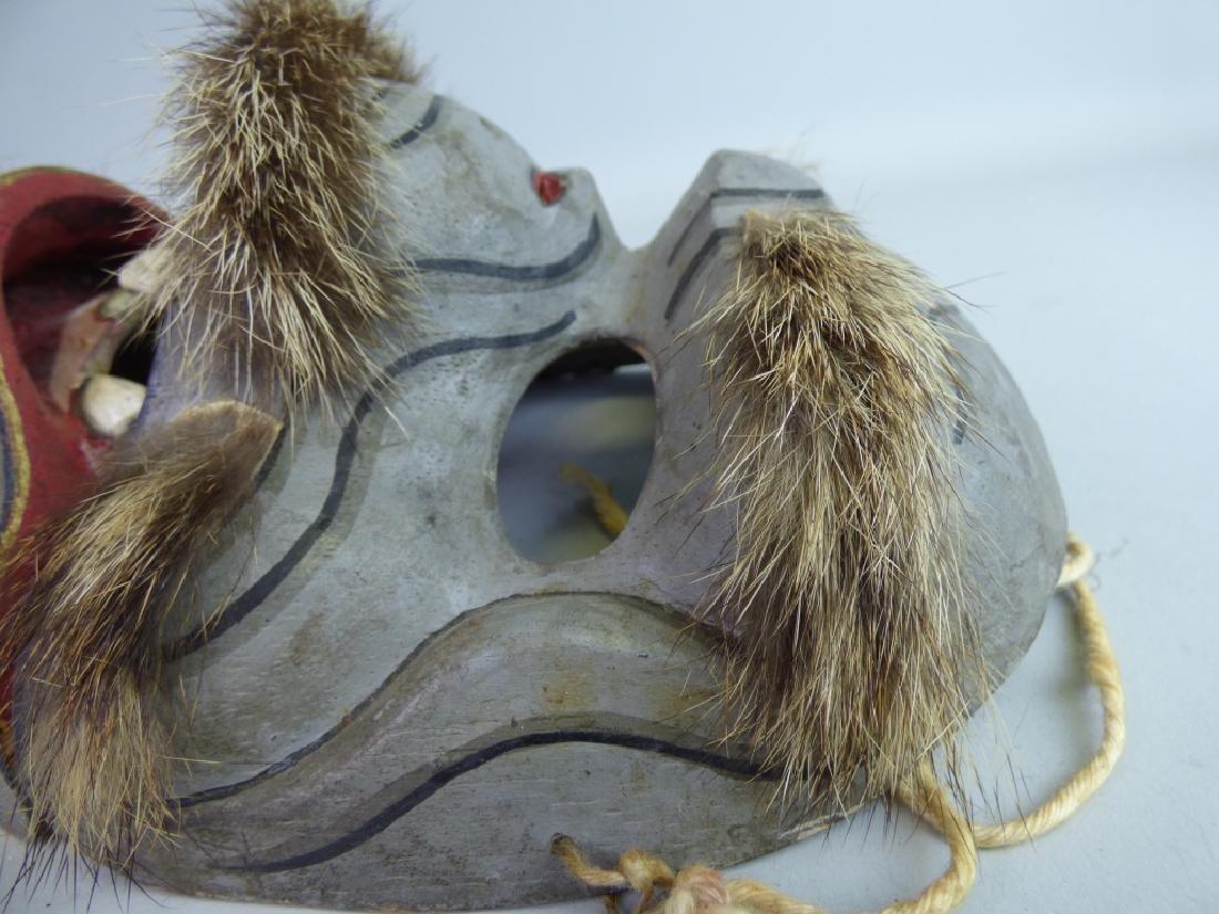 Antique Japanese Noh Mask - 5