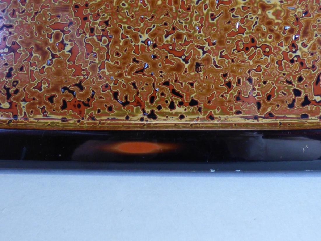 Large Inlaid Wasaka Lacquer Tray - 3