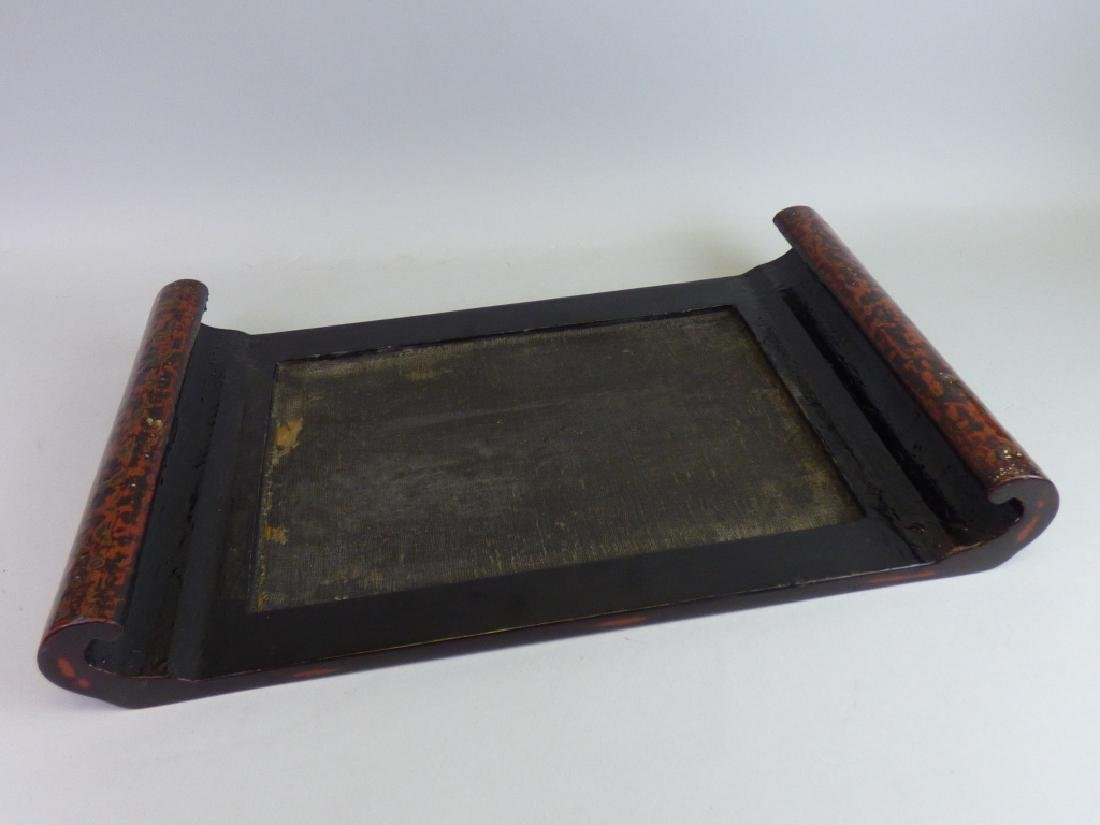 Finely Inlaid Wasaka Lacquer Stand - 4