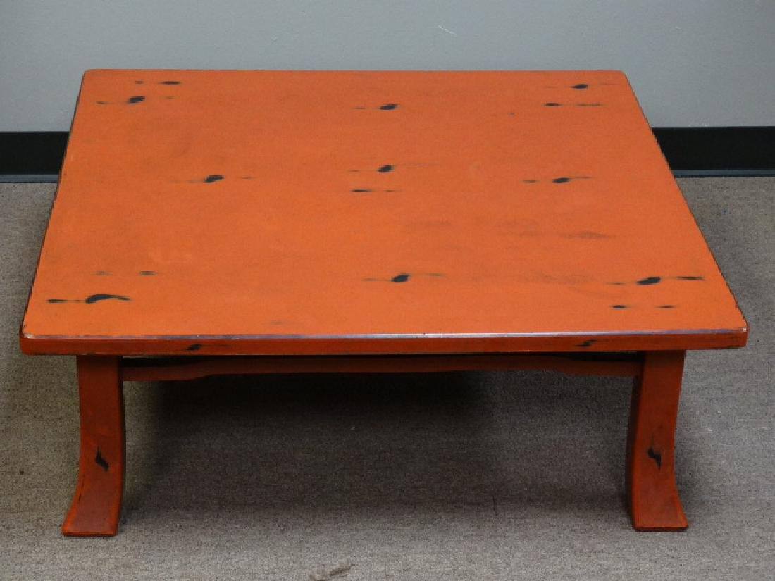 A Fine Japanese Negoro Lacquer Low Table