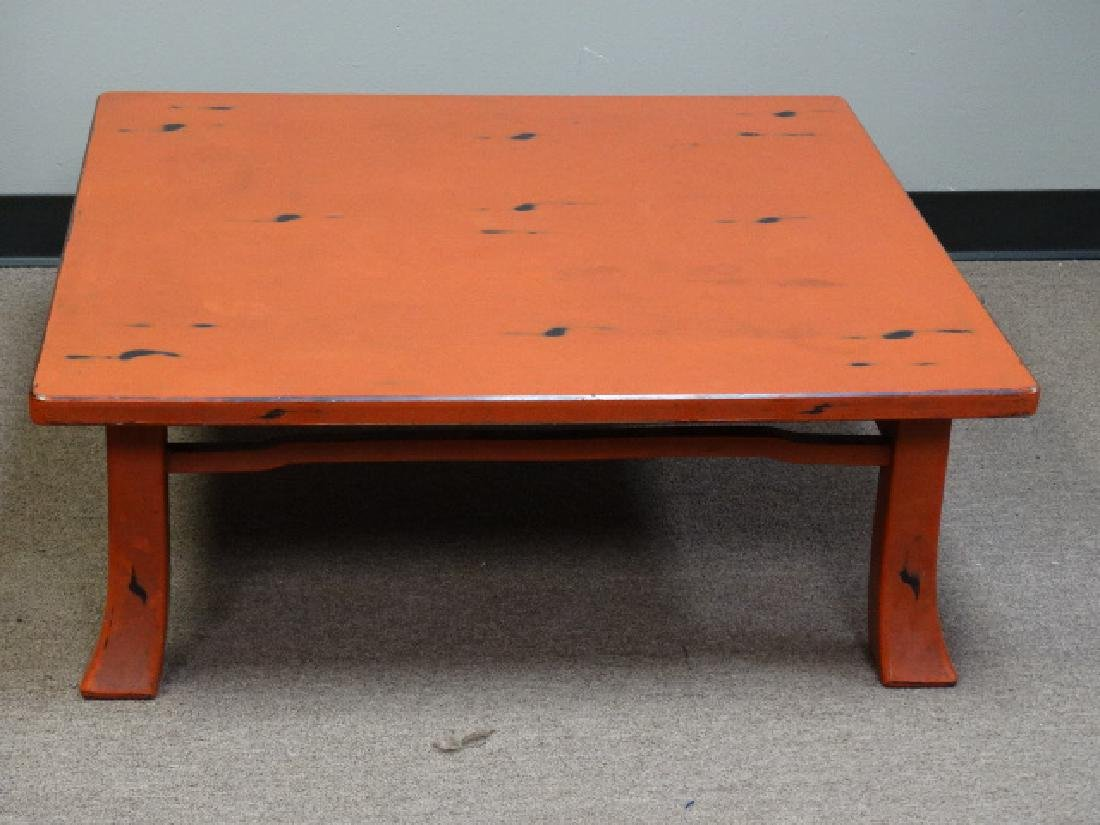 A Fine Japanese Negoro Lacquer Low Table - 2