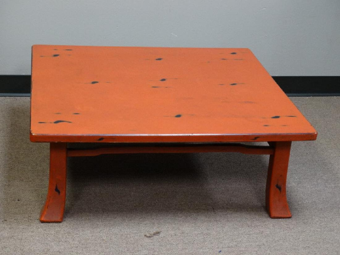 A Fine Japanese Negoro Lacquer Low Table - 3