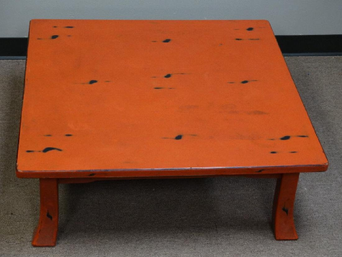 A Fine Japanese Negoro Lacquer Low Table - 4