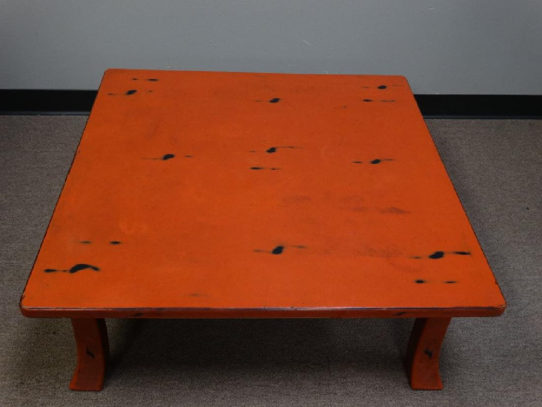 A Fine Japanese Negoro Lacquer Low Table - 5