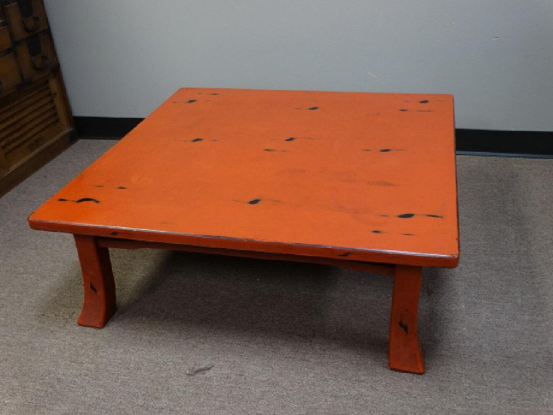 A Fine Japanese Negoro Lacquer Low Table - 7