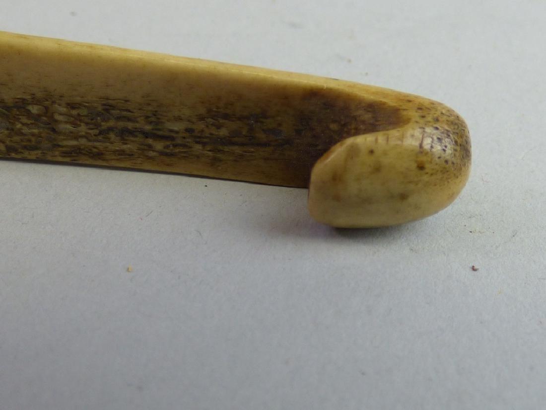 Carved Antler or Staghorn Netuske - 2