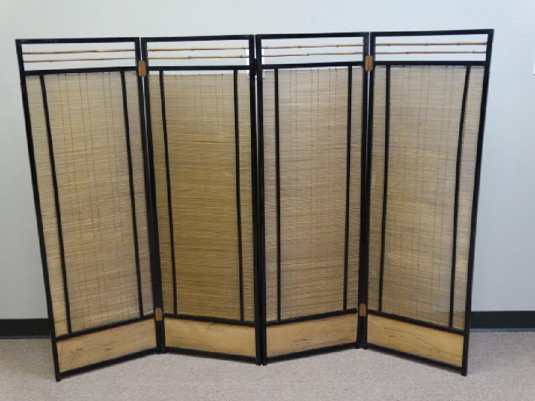 4 Panel Bamboo Floor Screen