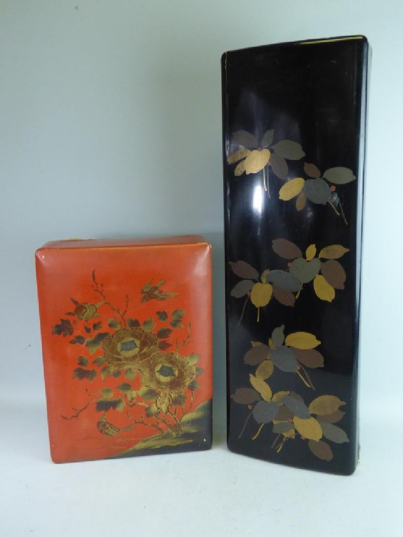 Two Large Lacquered Boxes