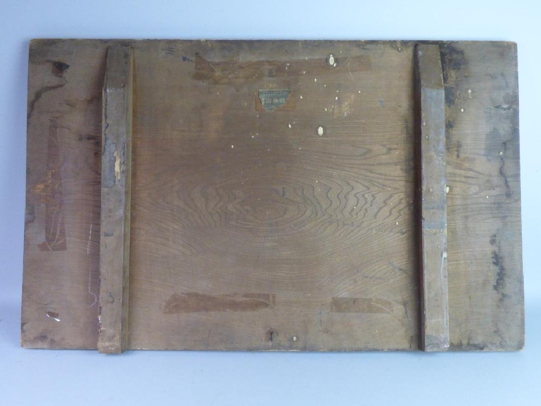 Japanese Carved & Painted Wood Shop Sign - 8
