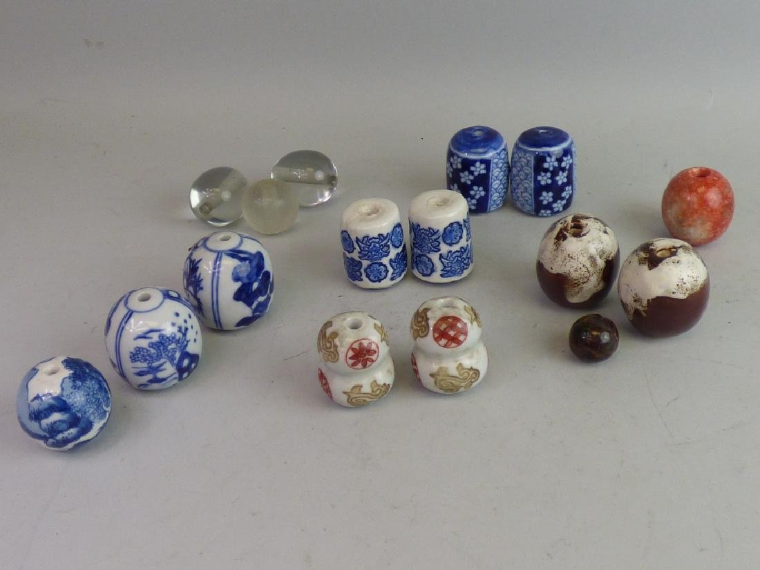 Group of Sixteen Various Ojime Beads