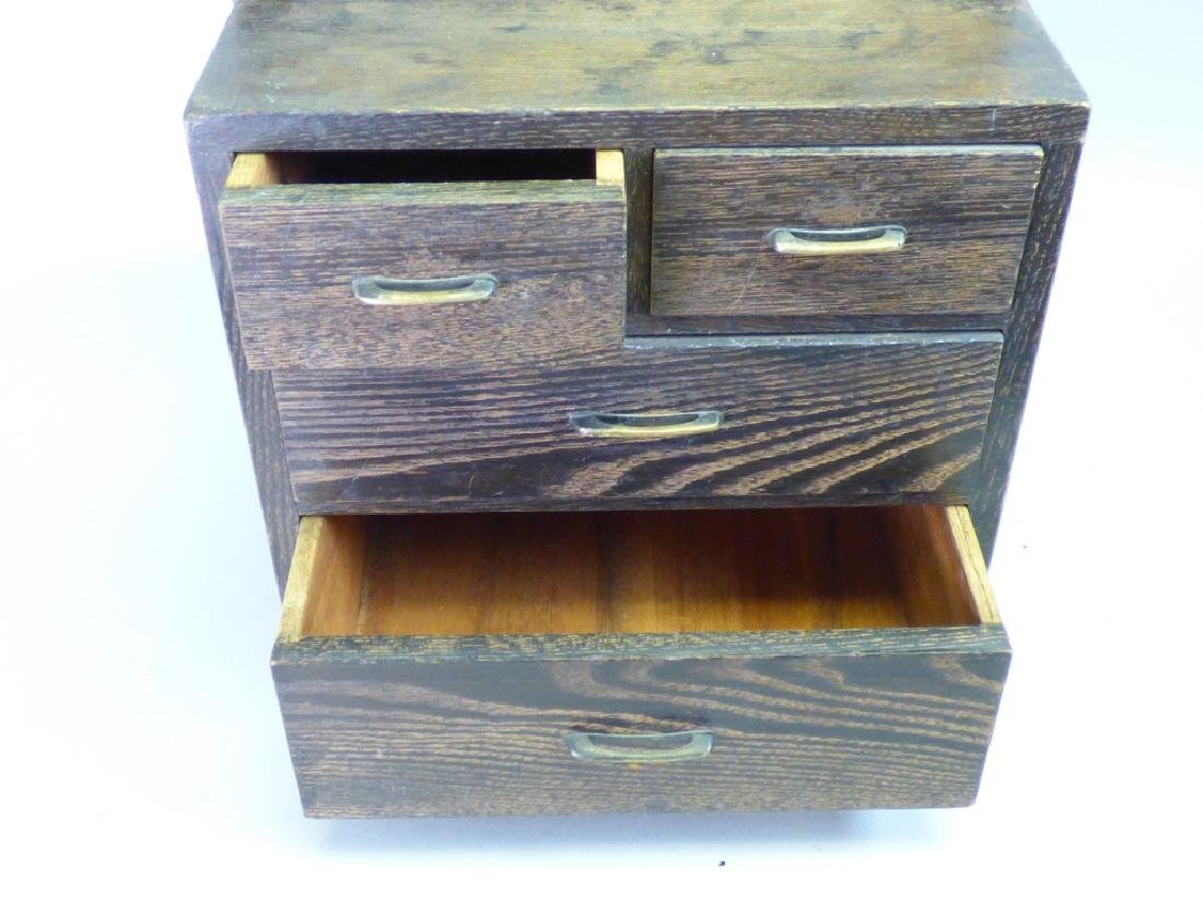 Dressing Tansu With Mirror - 6