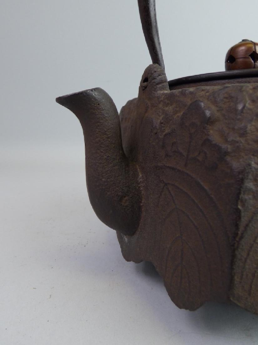 Antique Japanese Cast Iron Teapot - 2