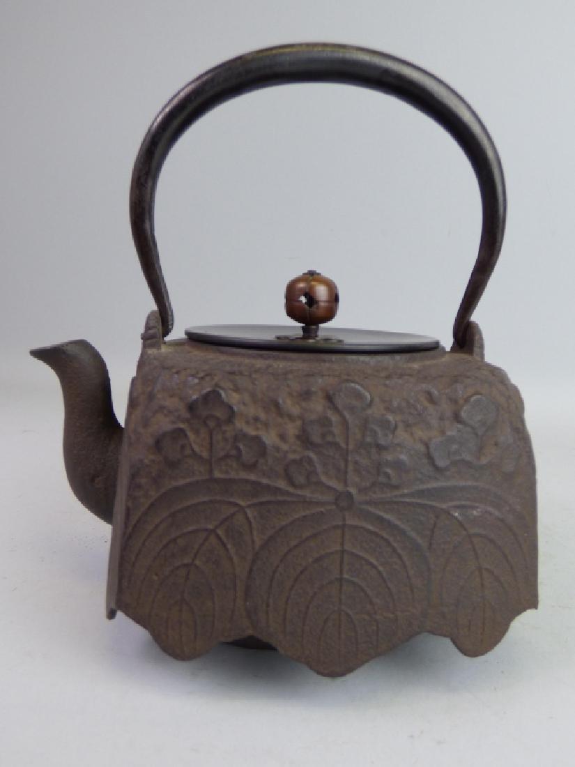 Antique Japanese Cast Iron Teapot - 3
