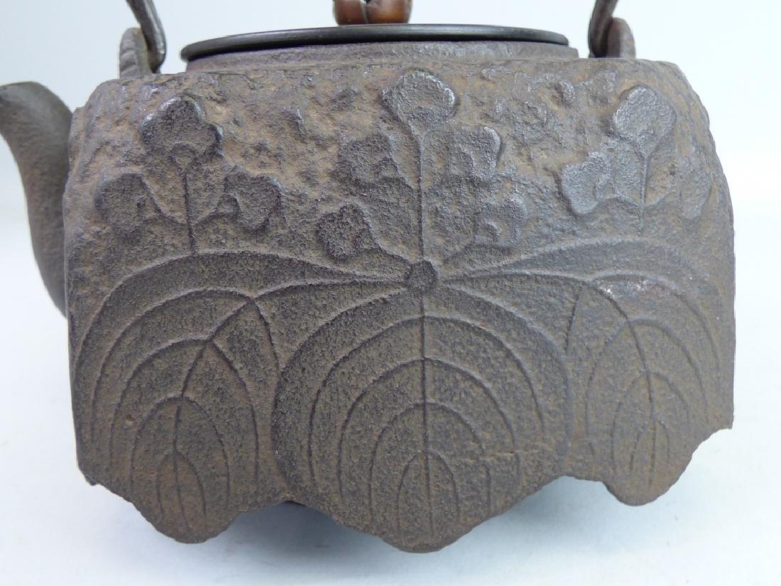 Antique Japanese Cast Iron Teapot - 4