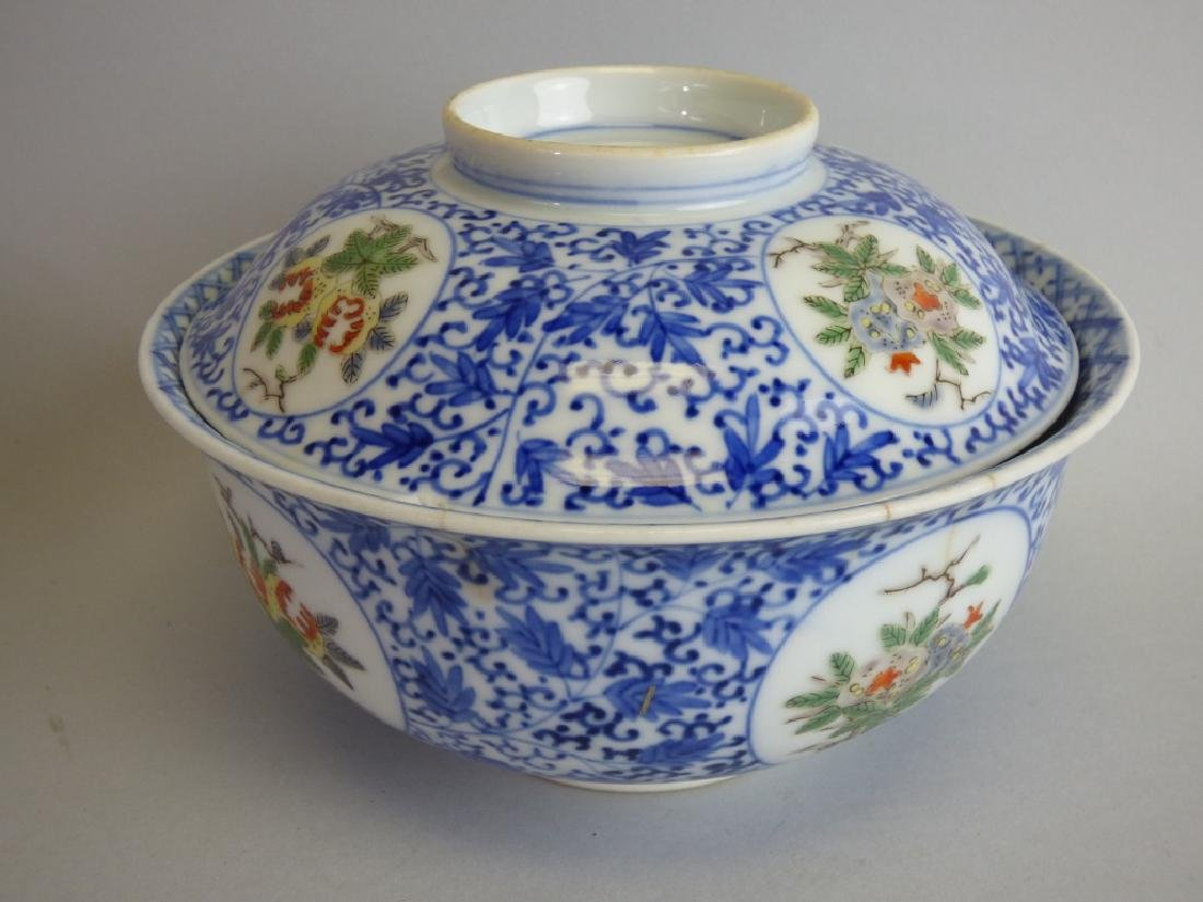Two Chinese Famille Verte Doucai Covered Bowls - 3