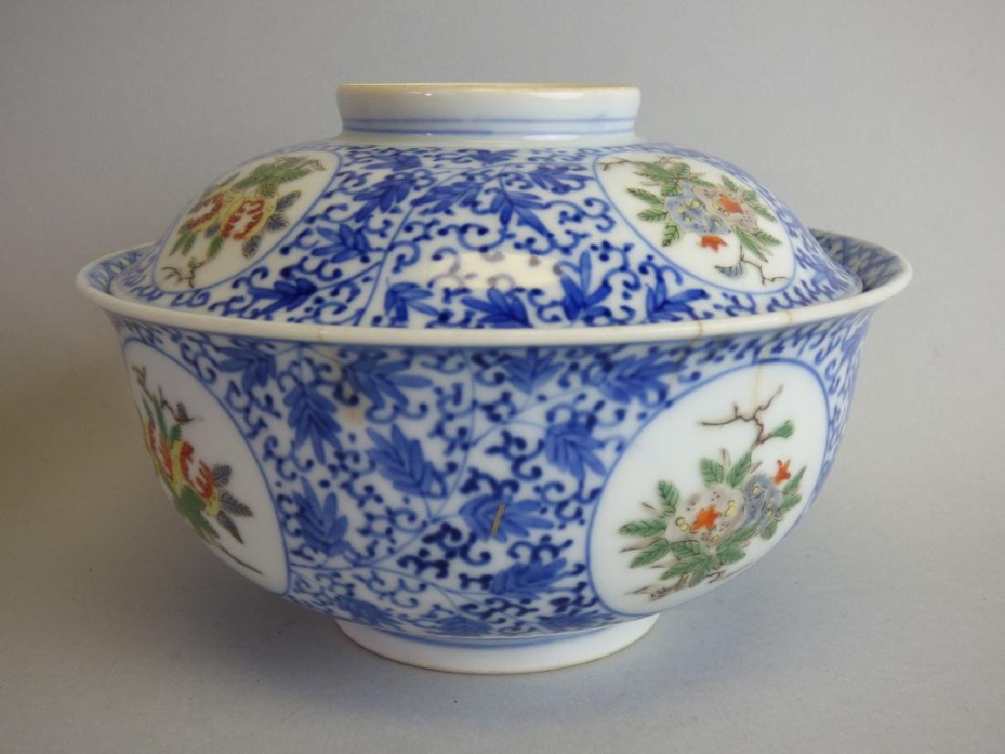 Two Chinese Famille Verte Doucai Covered Bowls - 4