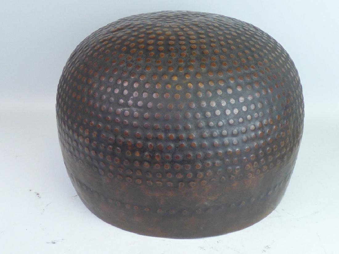 Japanese Hammered Copper Gong or Temple Bowl - 2