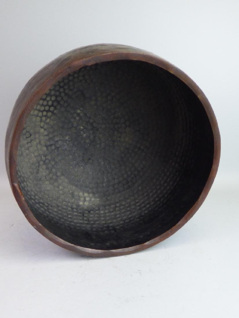 Japanese Hammered Copper Gong or Temple Bowl - 5