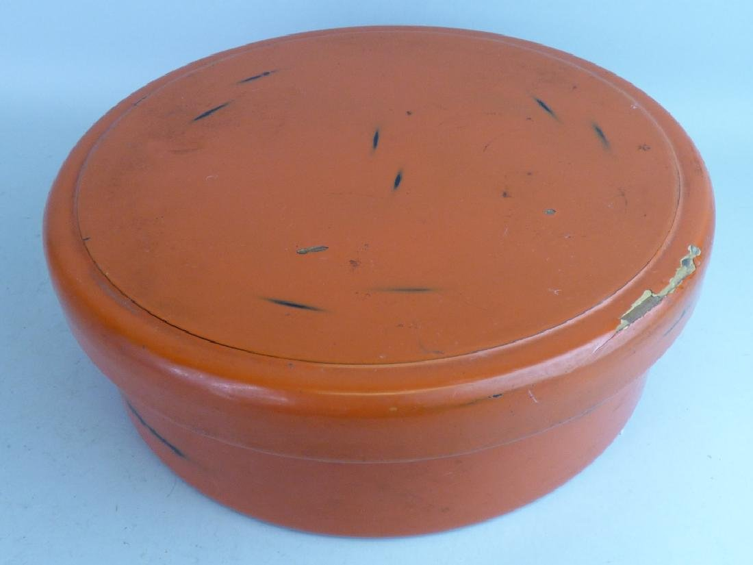 Japanese Negoro Lacquer Box - 10