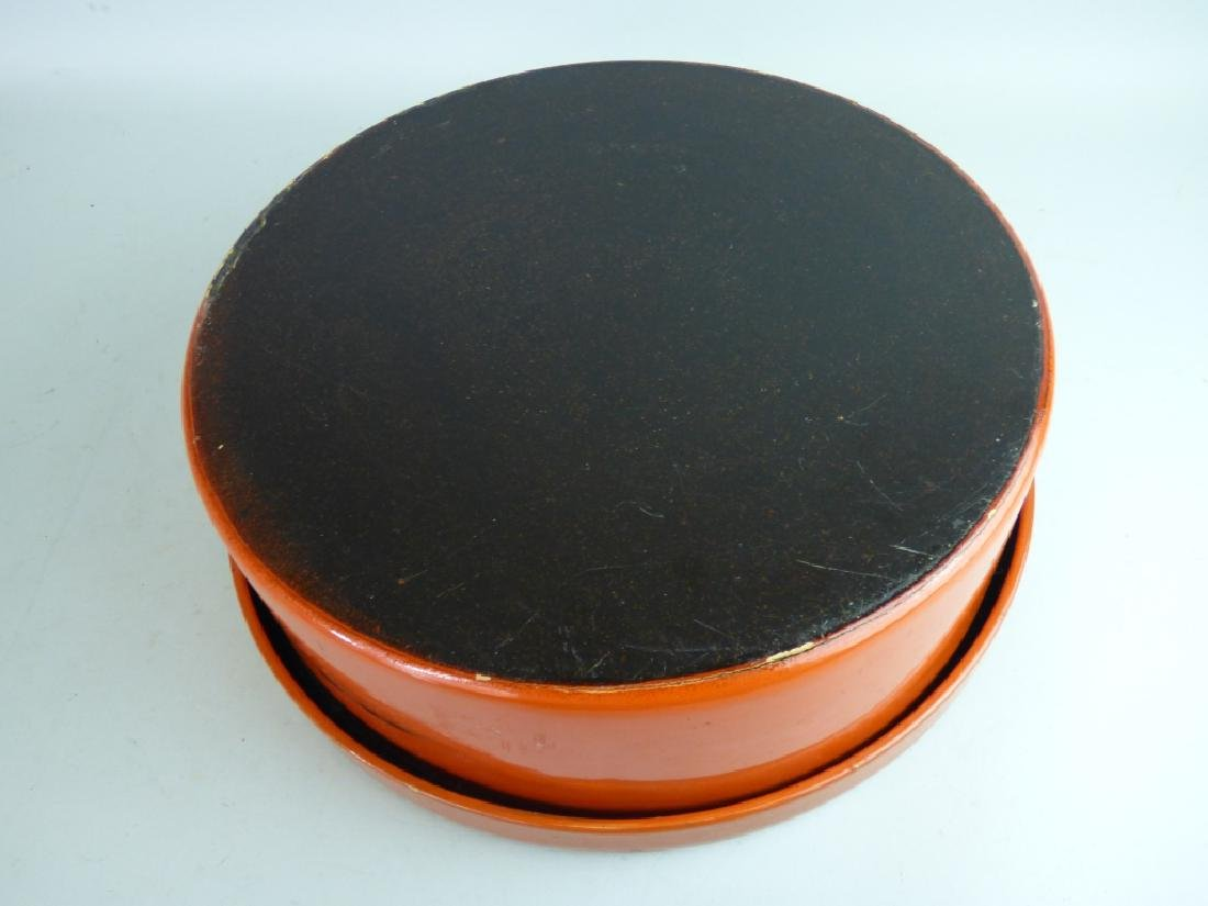 Japanese Negoro Lacquer Box - 5